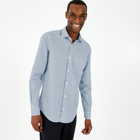 chemise à motif géométrique...