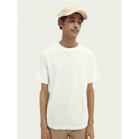 t-shirt en coton bio à col...